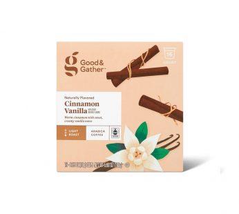 Naturally Flavored Cinnamon Vanilla Light Roast Coffee
